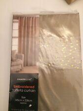 Embroided Taffeta Curtain