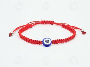 Red Hamsa Bracelet Bead Hand of Fatima Evil Eye Blue Turkish Protection Gift UK