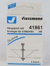41861 VIESSMANN - ESCALA H0 - SOPORTE DOBLE CATENARIA HO 5U. / HÄNGEJOCH (c5)