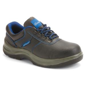 Mechanic Alluminio S1P scarpe da lavoro basse in pelle nera antinfortunistiche a