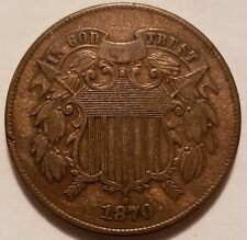 1870 2C Two Cent Piece Nice Coin