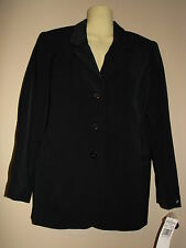 Alfred Dunner Petite Women's Black 3-Button Blazer - Size 6P - NWT $74