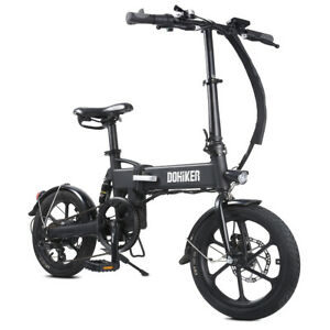 E-Bike Faltbarer Elektrofahrrad 250 W Electric Bike 16'' 36V 7.5Ah 6-Speed 90kg