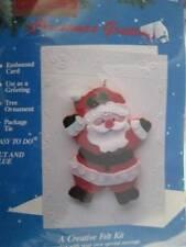 Titan Santa Christmas Greetings Card Felt Craft Kit #91883