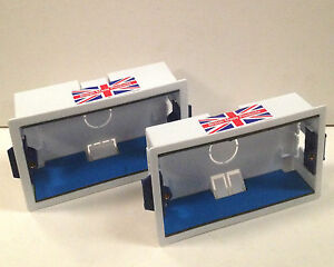 Double Gang Dry Lining Box c/w Fireproof Intumescent Gaskets - 35mm & 44mm Deep