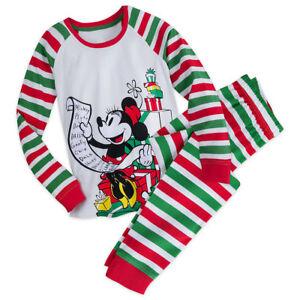 Disney Store Ladies 2 Piece Pajamas PJ Set Christmas Holiday