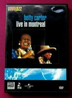 DVD MUSICAL JAZZ BETTY CARTERLIVE IN MONTREAL. B