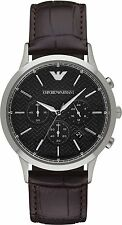 Emporio Armani Classic AR2482 Black/Black Leather Analog Quartz Men's Watch