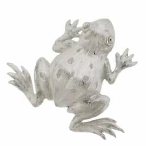 Buccellati 18K White Gold Frog Brooch Pin Retail $5330