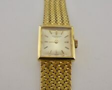 Authentic Vintage IWC International Watch Co Ladies 18k Gold Wristwatch - RARE*