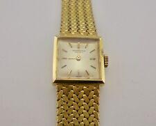 Authentic Vintage IWC International Watch Co Ladies 18k Gold Wristwatch - RARE*
