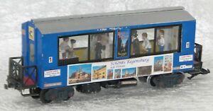 Eigenbau Gesellschaftswagen mit Hochzeitspaar, passend zur LGB