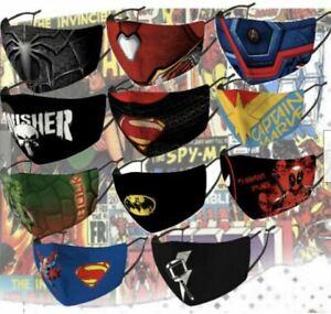 Superhero Marvel DC Washable Silk Adjustable Facemask (Kids and Adults) Reusable