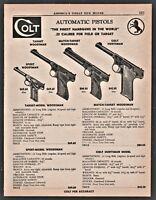 1957 COLT Sport Target, Match Target Woodsman and Huntsman Pistol PRINT AD
