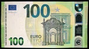 N2 ITALY 100 Euro 2019, SA-serie UNC, DRAGHI Sign, Printer S007G5