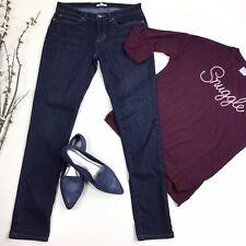 Eileen Fisher Women Size 6 Dark Wash Organic Cotton Skinny Jeans Stretch 3D