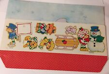Strawberry Shortcake Original Unused Paper Doll Christmas Display Rare Vintage