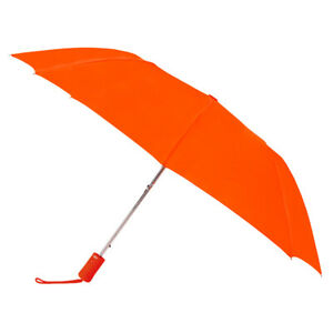 ORANGE Umbrella Automatic Open Wind Resistant With Matching Sleeve