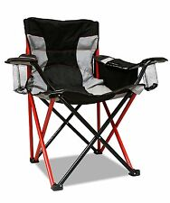 Quad Big Heavy Duty Camping Chair Cooler Cup Holder Large Folding Portable