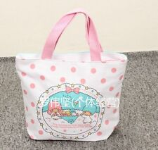 Little Twin Stars carry car handbag tote lunch bag storage bags U256 anime new