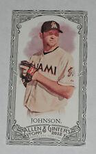 2012 Topps Allen and Ginter Josh Johnson Mini Black Card Miami Marlins # 43