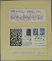 s1133) Raumfahrt 16. Int Space Congress Athen 1965 - OU Autograph James McDivit