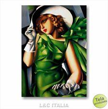 Tamara de Lempicka Donna con i guanti STAMPA TELA 50x70 RIPRODUZIONE QUADRO ARTE