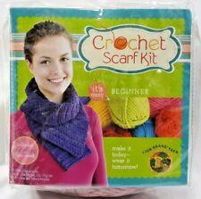 2010 Beginner Crochet Scarf Kit Mauve Rose Acrylic Yarn Teen-Adult Craft 7059F