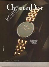 CHRISTIAN DIOR Black Moon Watch 1991 Print Ad