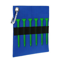 Zippered Golf Tee Pouch Golf Tee Ball Holder Storage Bag with Carabiner