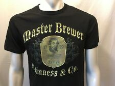 Guinness Beer Master Brewer Beer Advertising Men's Black Graphic T-Shirt Size M