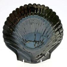 Vintage Retro French Arcoroc Black Glass Clam Shell Plate