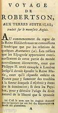 RARE UTOPIE E.O FRANCAISE NON EXPURGEE 1766 ROBERTSON VOYAGE TERRES AUSTRALES