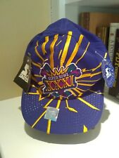 Super Bowl XXXI Starter Hat Rare Patriots Packers Purple Gold