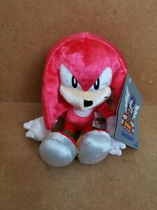 """Tomy Sega Sonic the Hedgehog 25th Anniversary Knuckles 8"""" Plush Soft Toy wit Tag"""