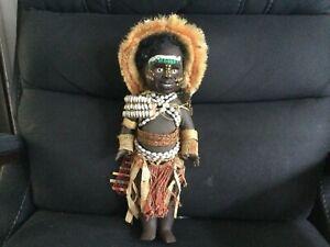 "Vintage WOW RARE  ""PAPUA NEW GUINEA ""  Metti Doll V.G.C. 34 cm Ht ca 1960 s"