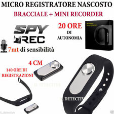 MICRO REGISTRATORE AUDIO VOCALE 8 GB SPY SPIA MINI AMBIENTALE USB