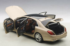 Autoart MERCEDES BENZ MAYBACH S-KLASSE S600 CHAMPAGNE GOLD 1/18 Scale New!
