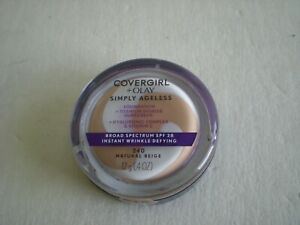 CoverGirl + Olay Simply Ageless Compact Foundation Natural Beige 240, .4 oz