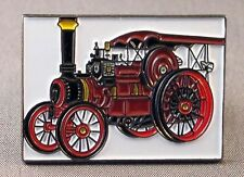 Metal Enamel Pin Badge Brooch Traction Engine Steam Engine NTET Red
