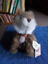 "BOYDS BEARS & FRIENDS MERLE B. SQUIRREL  9"" PLUSH SOFT STUFFED TOY FREE UK P&P"