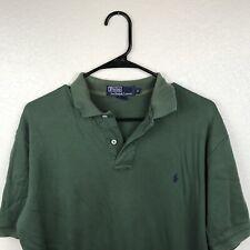Polo Ralph Lauren Collar Shirt Army Olive Green Men's Small 100% Cotton #4E