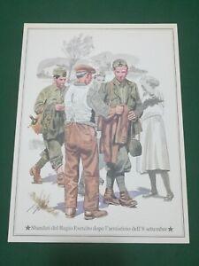 Vintage -  Sbandati del Regio Esercito dopo 8 Settembre  , vecchia stampa 21x28