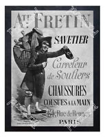 Historic Auguste-Fretin, Paris shoes Advertising Postcard