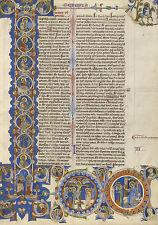 Illuminated Manuscripts: Scenes from the Creation of the World:  Fine Art Print