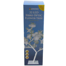 32 Warm White LED Light Fibre Optic 45cm Blossom Flower Tree Xmas Indoor Decor