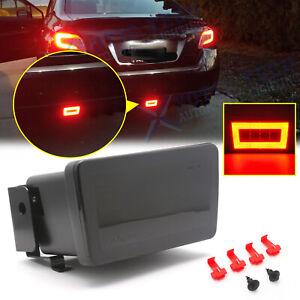 Smoked Lens LED Rear Fog Light, Brake Backup Reverse For Subaru WRX STi 2015-21