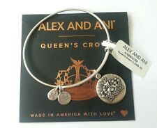 Alex and Ani Queen's Crown Charm II Bangle Bracelet NWT Card BOX RETIRED RARE