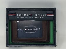 Tommy Hilfiger Men's York Slim Magnetic Front Pocket Wallet Tan