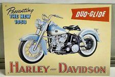 Harley Davidson Duo Glide 1958 Motorcycle Panhead OLD Vintage metal Sign